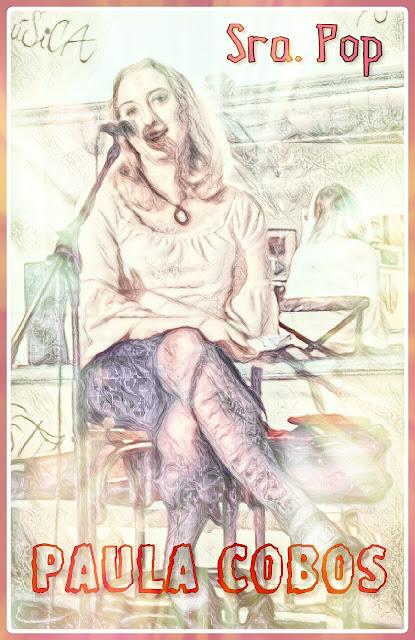 """Paula Cobos recitó tres de sus poesias en el local de Sevilla Sra.Pop bajo el lema del """"Santisimo coño insumiso"""" por las mujeres y su derecho a hacer con su propia vagina lo que decidan en un """"micro abierto"""" que es una nueva modalidad para que artistas desconocidos tengan la oportunidad de dar a conocer sus trabajos musicales, poeticos, comicos etc...."""