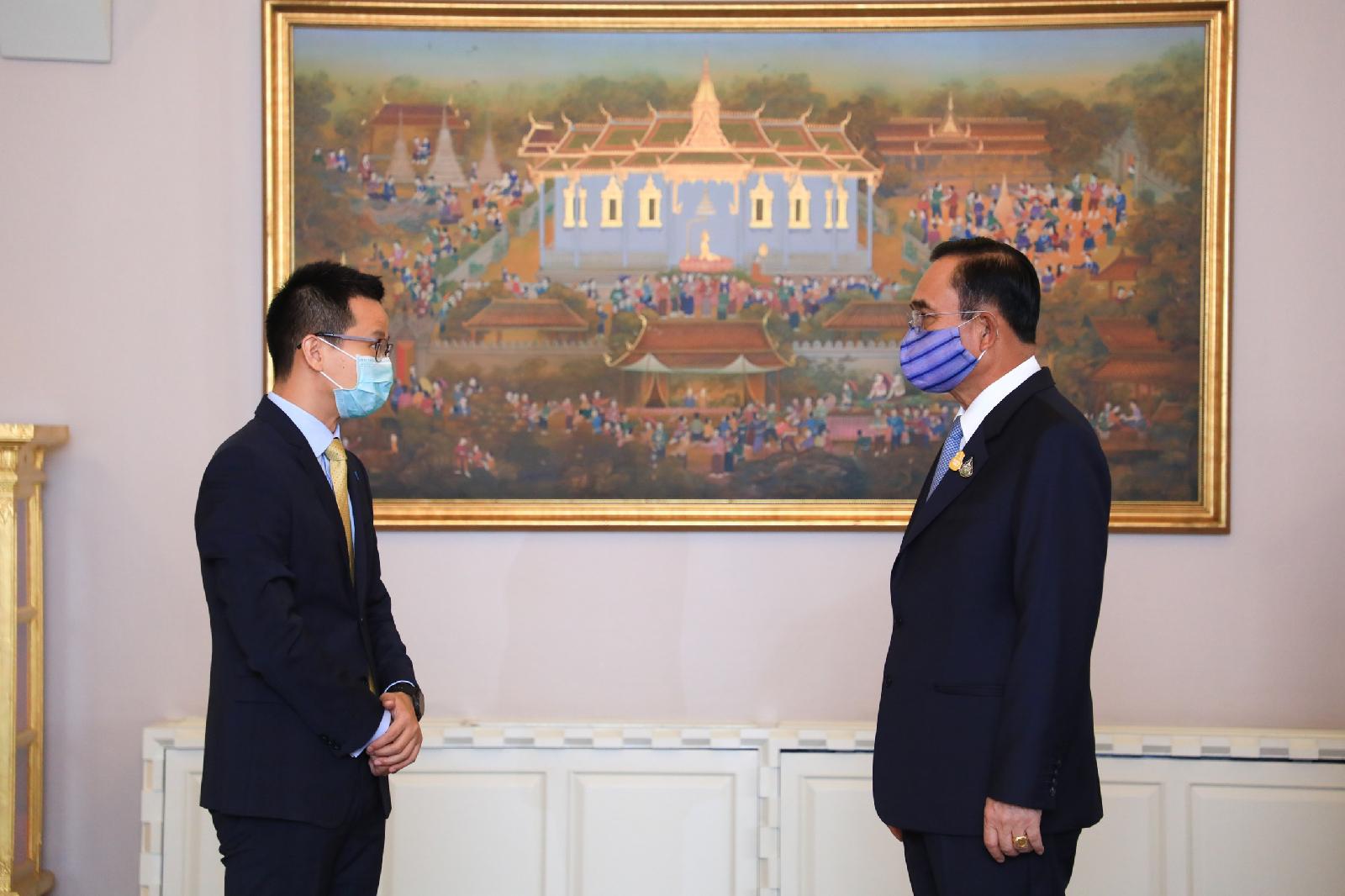 นายกรัฐมนตรี ต้อนรับ Huawei ร่วมเสริมศักยภาพเทคโนโลยีดิจิทัลผ่าน 5Gเสริมทัพรัฐบาลไทยฟื้นฟูเศรษฐกิจหลัง Covid-19