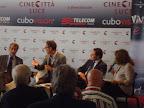 """Conferenza Stampa """"Reason Wine"""", 4 settembre 2011 - Lido di Venezia, Claudio Galletti, Beppe Fiorello, Michele Pisante e Laura Delli Colli"""