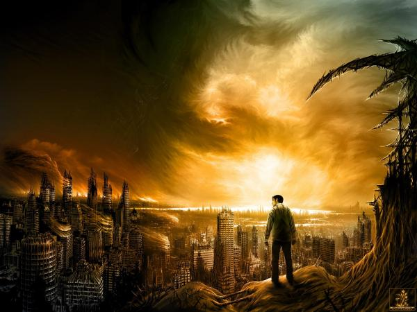 Man In The Poisoned City, Magical Landscapes 1