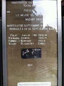 MozART group at the Teatro Nacional in San Jose / Costa Rica