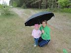 под зонтякой :)