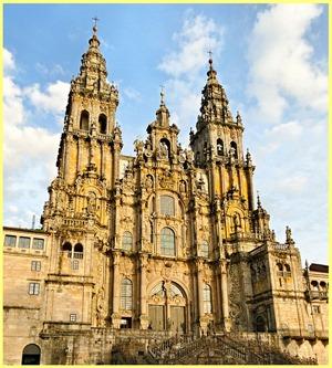 Fachada del Obradoiro de la Catedral de Santiago de Compostela