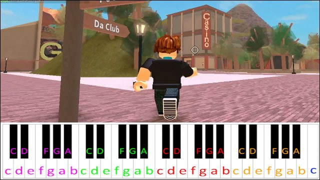 Roblox Theme Song Piano Letter Notes