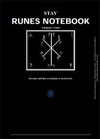 Cover of Alex Pidd's Book Stav Runes Notebook A Beginners Guide