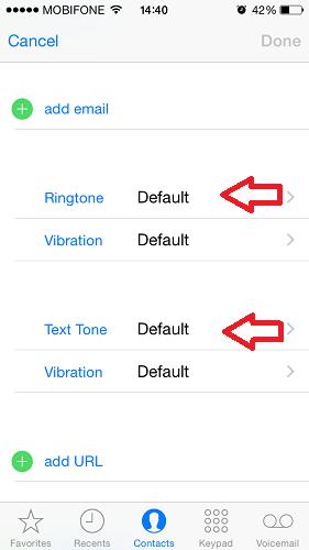 Hình 3 - Những công cụ hữu ích trong danh bạ iPhone, iPad