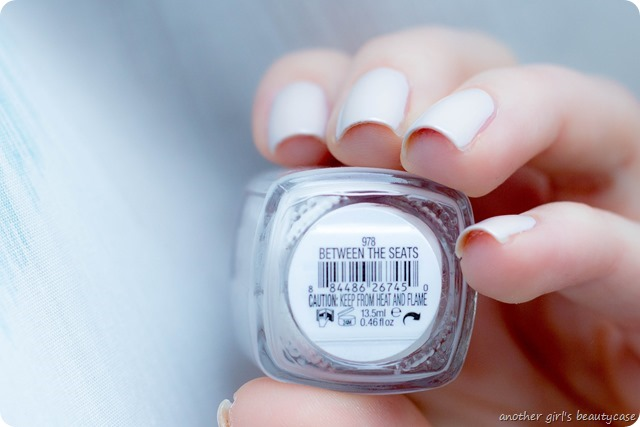 LFB beige essie bridal between the seats swatch-4