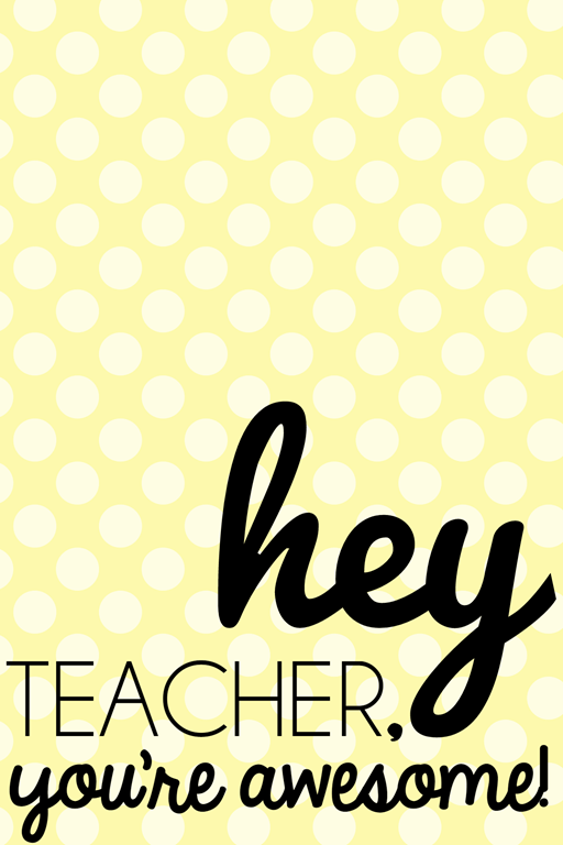 teacher printable at GingerSnapCrafts.com