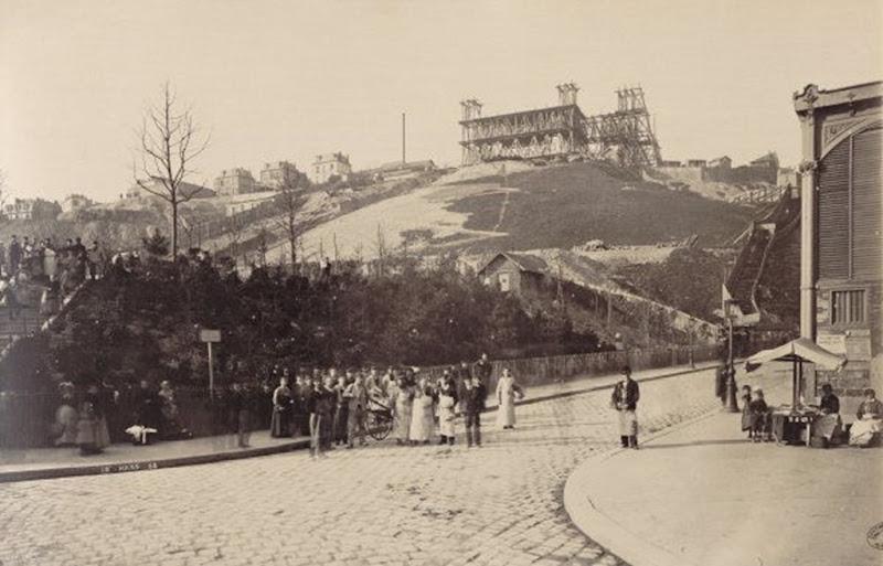 Basilique du Sacré-Coeur of Paris Under Construction in 1883