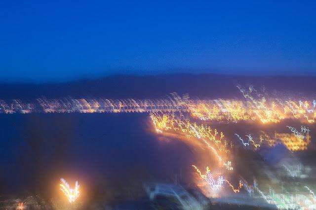 諏訪湖SA 夜景 手持ち ブレブレ