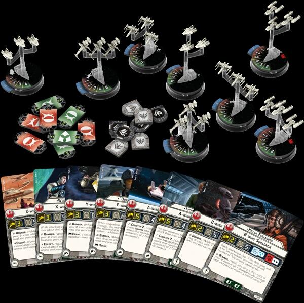 escuadrones de cazas Rebeldes Star Wars Armada Wave 1