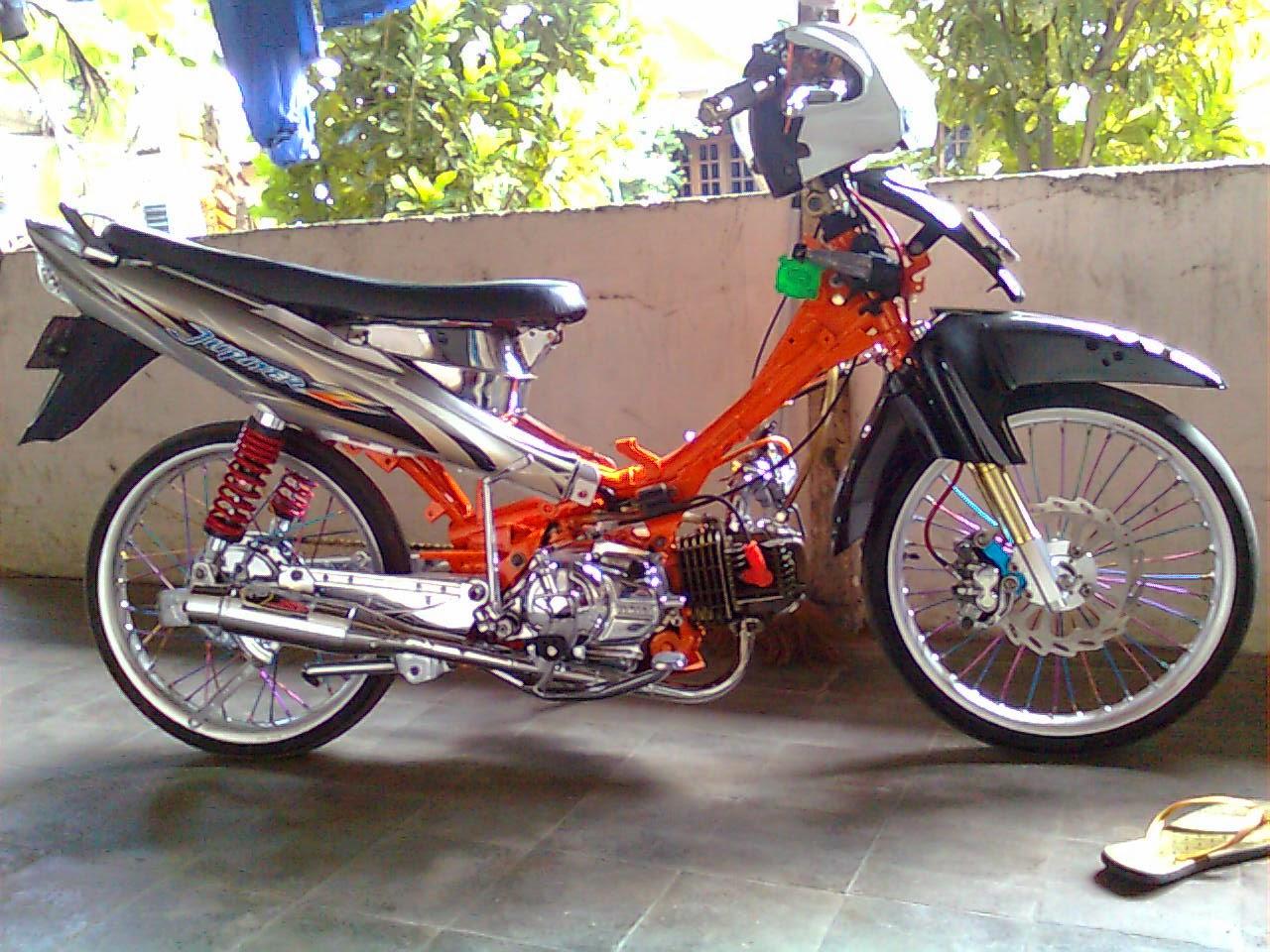 Motor Jupiter Z Modifikasi Drag