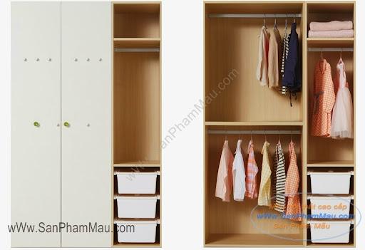 Chia nhỏ tủ để quần áo