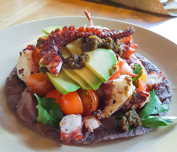 photo of Grilled Octopus Tostada at Galaxy Taco