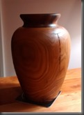 Elm and mahogany vase