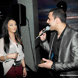 WWW.ENTSIMAGES.COM -    Yasmin  and Ramzi at   Après London The Live Lounge - launch party at Apres London, 31 Duke Street, London, April 12th 2013                                                    Photo Mobis Photos/OIC 0203 174 1069