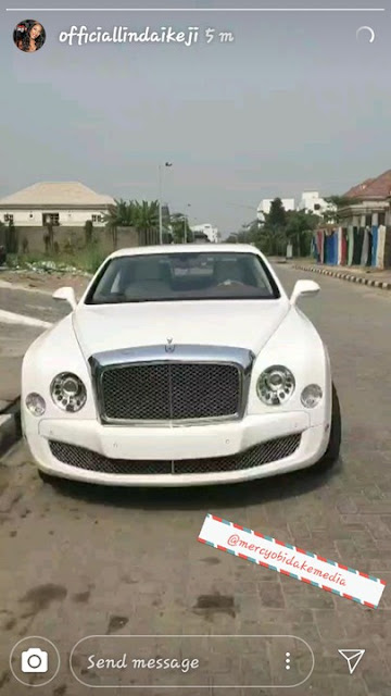 Babymama Linda Ikeji's Son, Jayce Jeremi's Bentley Finally Arrives Lagos