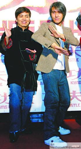 田雞(左)與星爺合作長達13年,對星爺為人瞭如指掌,他直指星爺孤獨沒有朋友。資料圖片