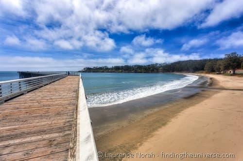 San Simeon Pier Cambria California beach sky