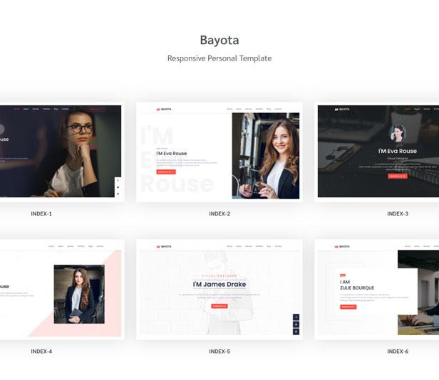 Bayota - Responsive Personal & Portfolio Template - 1
