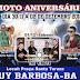 Moto Aniversário dia 30/11 à 02 de dezembro em Ruy Barbosa
