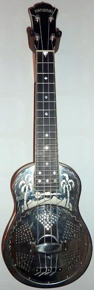 National Reso-Phonic type 0 engraved steel body Concert Ukulele