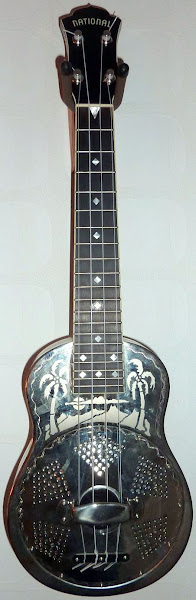 National Reso-Phonic type 0 engraved steel body Concert Ukulele