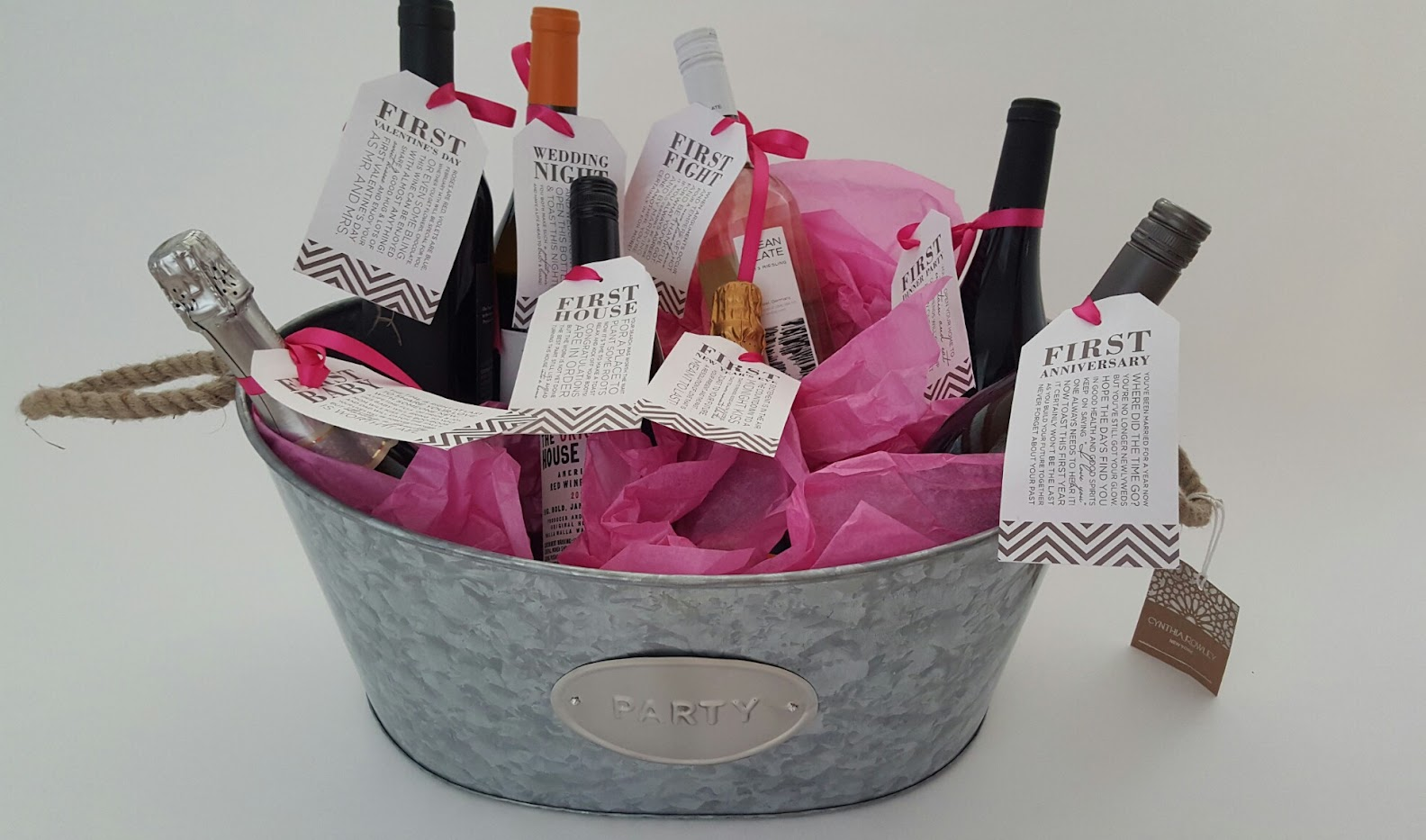 Bridal Shower Wine Gift Basket Ideas : Bridal Shower Gift DIY to Try: A Basket of ?Firsts? for the Bride ...