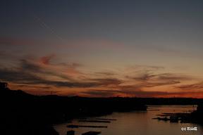 2011/11/26の夕景です。先ほどの橋の上からですとこんな感じになります。賢島大橋も凄く綺麗です!