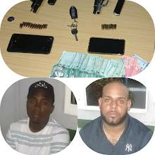 Policía detiene dos sujetos con armas ilegales y 30 mil pesos Ojeda