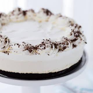 Irish Cream Cheesecake with Mint Chocolate Crust.