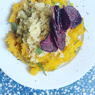 Butternut Squash W/ Crispy Rosemary Beets And Quinoa.