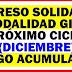 Ingreso Solidario Modalidad GIRO Próximo ciclo ( Diciembre ) serán Pagos Acumulados