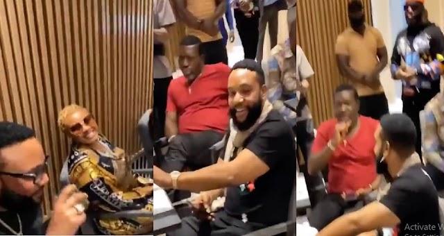 Kanayo O Kanayo, E-Money, KCee & Others Captured Having A Some Billionaires Time At Obi Cubana's Mother's Funeral [Video]
