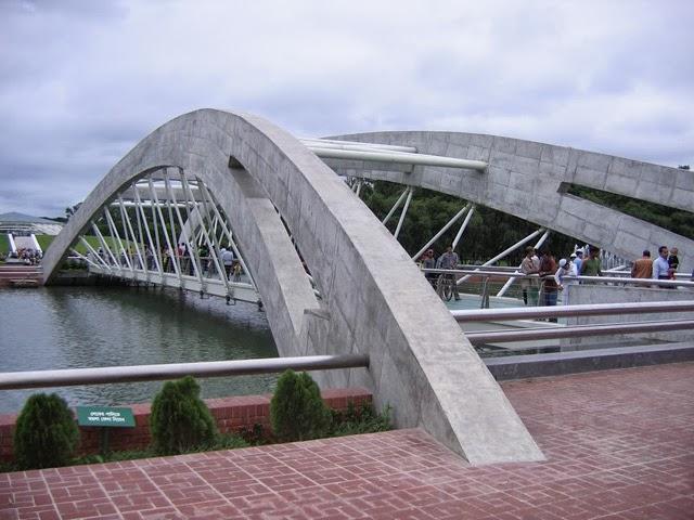 Beautiful bridge on adjacent Crescent Lake