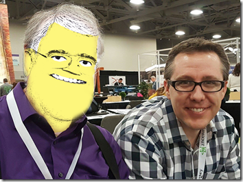 The Ancestry Insider and Kendall Hulet at RootsTech 2017