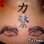 back chinese letter - Eye Tattoo