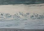 Welle im Abendlicht, Adria