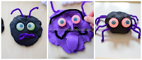 Playdough Monster Faces