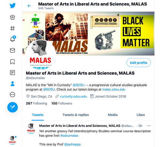 Check MALAS Out on Twitter!