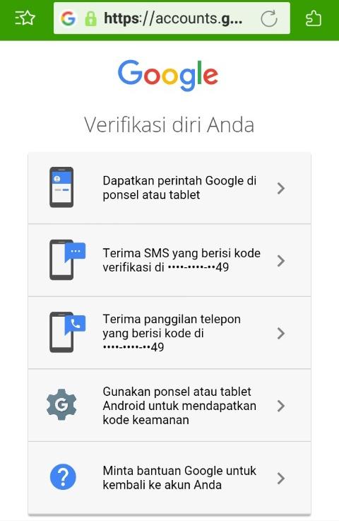 cara reset password email gmail tanpa no hp