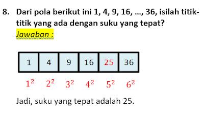 contoh soal dan pembahasan pola bilangan 8
