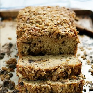 Dark Chocolate Chunk Banana Bread with Oatmeal Streusel Recipe