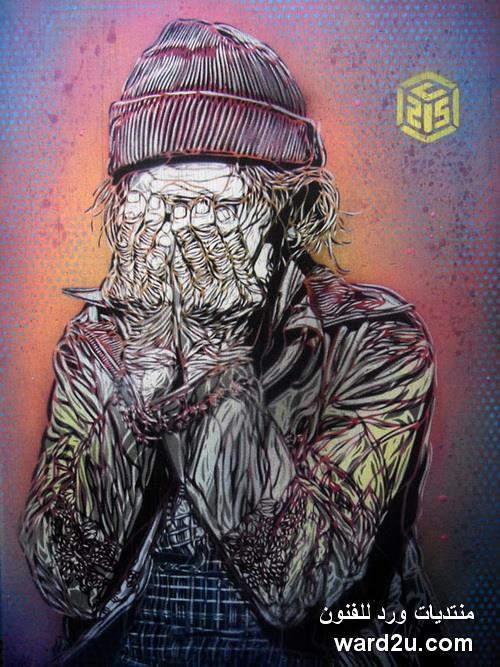 انفعالات حياتية تطل من جداريات الفنان Christian Guemy