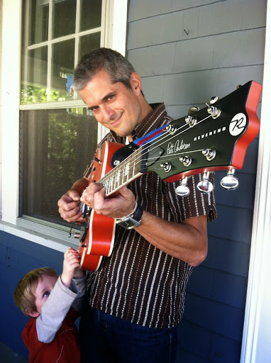 Me, Nigel, and my new guitar. From Road Trip 101: Kids Music - Matt Heaton's Happy You Made It!