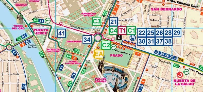 mapa sevilha pontos turisticos Guia de Sevilha – Espanha | Viagem.decaonline.| Dicas de Viagem mapa sevilha pontos turisticos