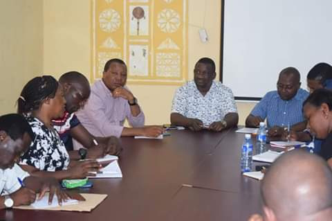 Kwale Governor Salim Mvurya in a press conference. PHOTO | BMS