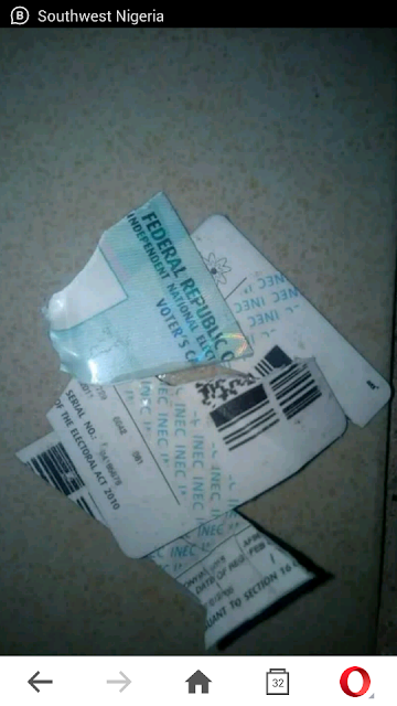 Ekiti Election : Man Destroys His Permanent Voters Card (pictures)