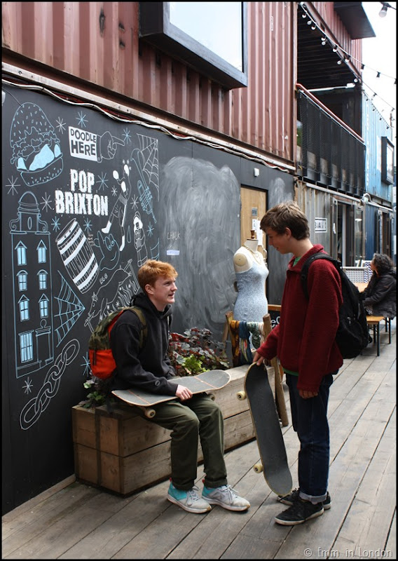 Skateboarders at Pop Brixton