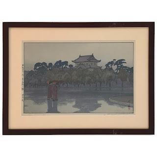 Hiroshi Yoshida Signed Wood Block Print